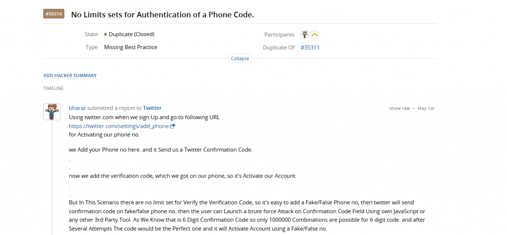 Phone Number Verification Bypass in Twitter