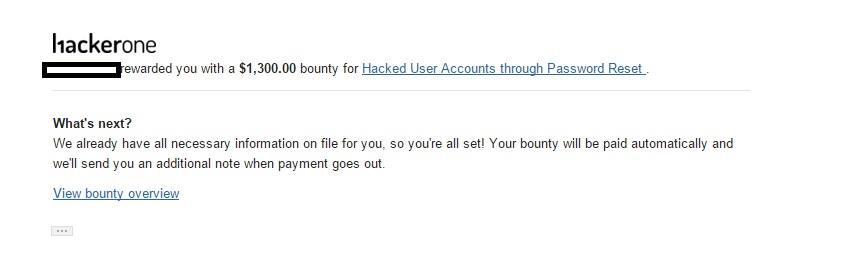 Account Takeover through Password Reset